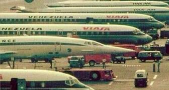"""Foto del aeropuerto de Maiquetia en los mejores años de la """"Cuarta República"""", cientos de vuelos entraban y salían al día"""