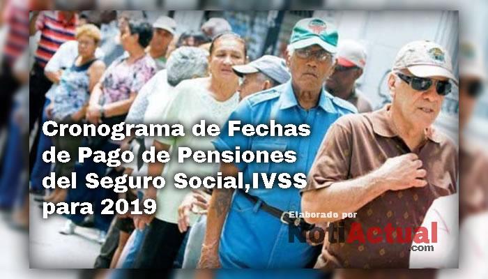 Fechas de Pago de Pensiones del IVSS 2020