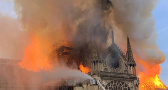 Fotos del incendio catedral de Notre Dame Paris, Abril 2019, Nostradamus