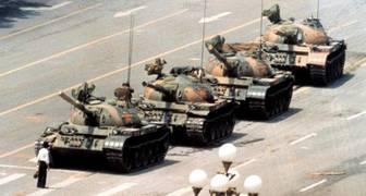 el hombre del tanque Masacre de Tiananmen pekin