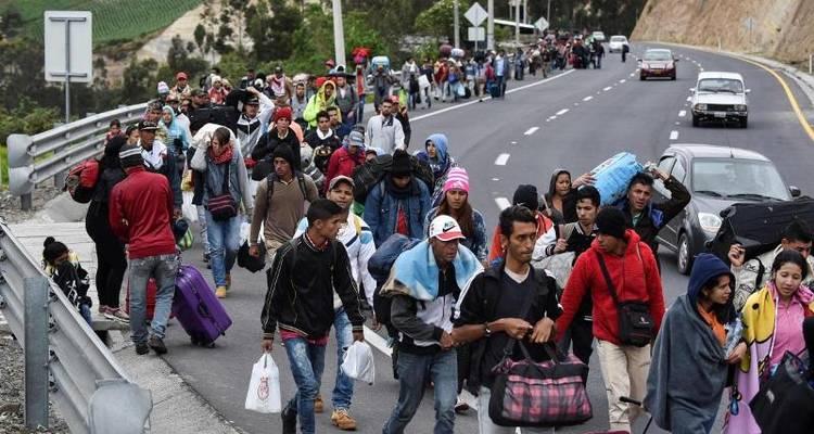 migrantes venezolanos ecuador