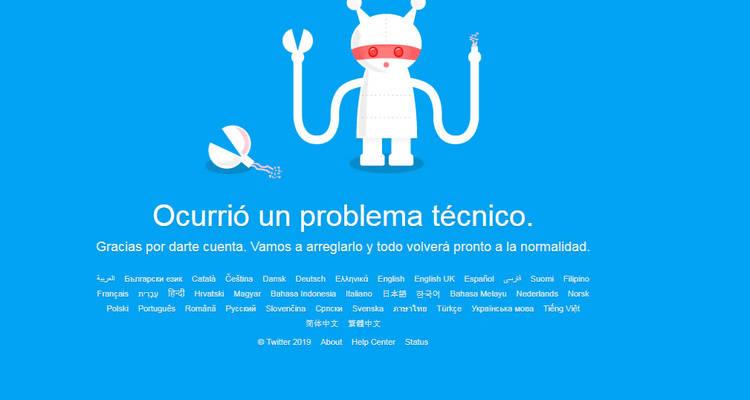caída de twitter 110719