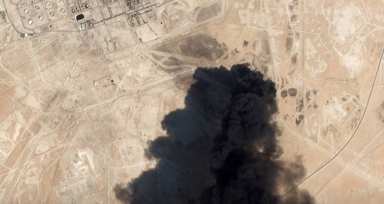 Aramco en Abqaiq, Arabia Saudita, el 14 de septiembre de 2019