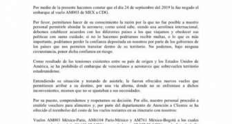 COMUNICADO XENÓFOBO DE AEROMEXICO