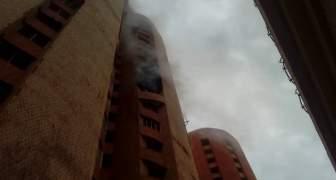 INCENDIO EDIFICIO MI DELIRIO MARACAIBO