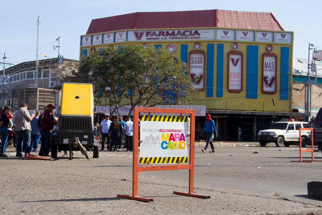 Alcaldía Bolivariana  de Maracaibo arrancó el 2020 con la intervención de La curva de Molina