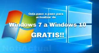 COMO ACTUALIZAR DE WINDOWS 7 A WINDOWS 10 GRATIS