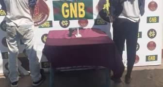 GNB capturó 04 ciudadanos por porte ilícito de arma de fuego en la población de San Félix