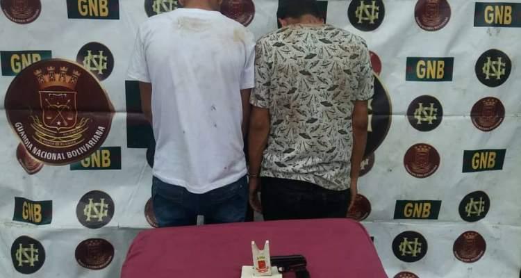 GNB capturó a 7 ciudadanos por porte ilícito de arma de fuego en el estado Bolívar