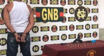 GNB capturó a ciudadano con un arma de fuego y municiones en el estado Bolívar