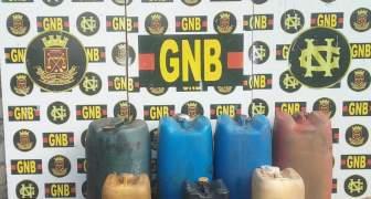 GNB retuvo 1.199 litros de combustible ilegal en el estado Bolívar