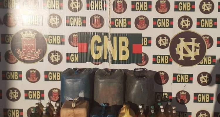 GNB retuvo más de 900 litros de combustible ilegal en el estado Bolívar