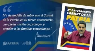 Inició entrega de bono por 3er aniversario del Carnet de la Patria