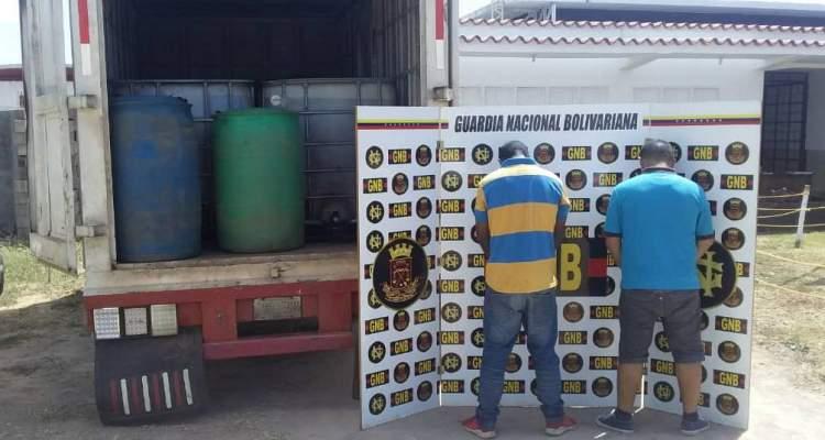 GNB retuvo 7.880 litros de combustible ilegal en el estado Bolívar