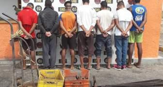 GNB capturó a 07 ciudadanos por hurto de material estratégico de Ferrominera del Orinoco