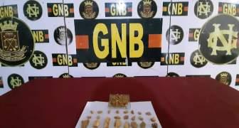 Efectivos de la GNB retuvieron 307 gramos de material aurífero