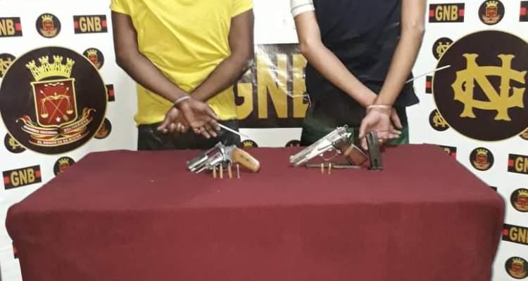GNB capturó a cuatro sujetos con armas de fuego en el estado Bolívar