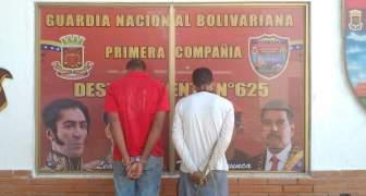 GNB capturó a dos ciudadanos por hurto de material estratégico en el estado Bolívar