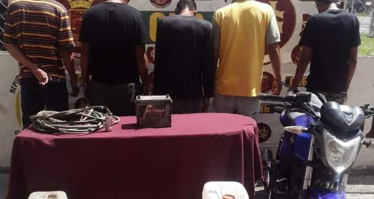 GNB capturó a integrantes del GEDO Los gasolineros de San Félix