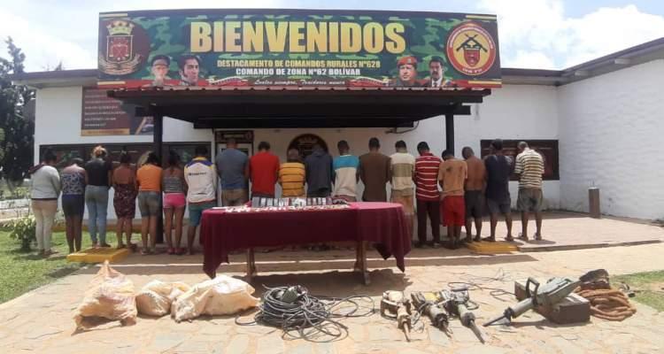 GNB capturó a 19 integrantes de los GEDO El Toto y Zacarías en El Callao estado Bolívar