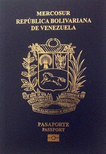 PASAPORTE ELECTRONICO VENEZUELA MERCOSUR