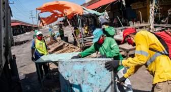 Recolectan siete toneladas de desechos y destruyen tarantines en Las Pulgas