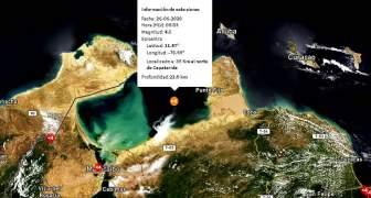 26JUN, VENEUELA: Sismo de 4.5 grados de Magnitud se registro al norte de Falcón