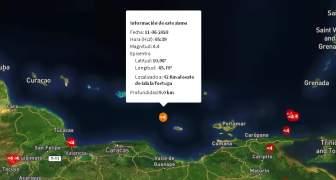 TEMBLOR EN ISLA TORTUGA VENEZUELA 11JUN2020