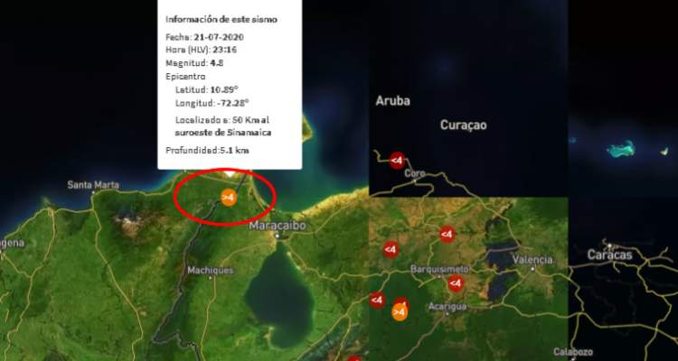 SISMO 21JUL ZULIA VENEZUELA