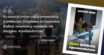 BONO ESPECIAL QUEDATE EN CASA 18 AGOSTO 2020