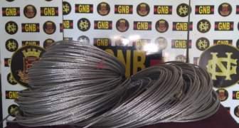 GNB recuperó dos mil metros de guaya de alta tensión en El Palmar estado Bolívar
