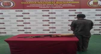 Tres ciudadanos fueron detenidos por funcionarios de la GNB por diferentes delitos