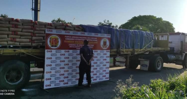 GNB incautó más de 28 toneladas de cemento en el estado Bolívar