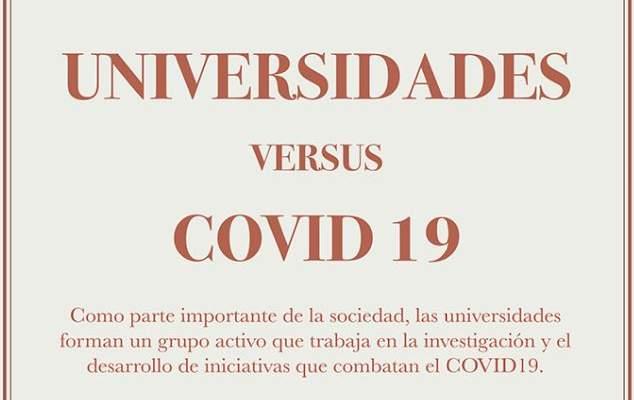 Universidades versus el COVID-19