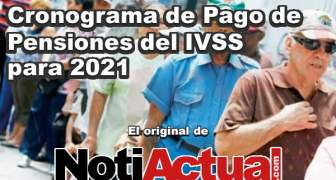 CRONOGRAMA DE PENSIONES IVSS 2021