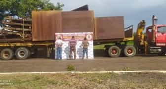 GNB capturó a tres sujetos con 24 toneladas de material ferroso en el estado Bolívar