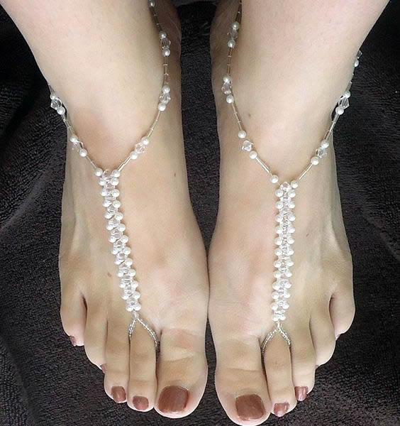 Moda para los Pies: Pulsera, collares, anillos y accesorios..