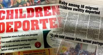 REPORTE DE DEPORTACION DE NIÑOS EN PRENSA LIBRE EN TRINIDAD Y TOBAGO
