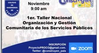Taller Nacional sobre Organización y Gestión local de los Servicios Públicos