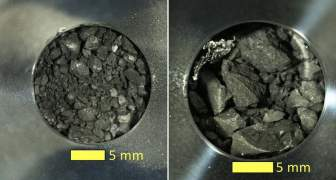 Fragmentos del asteroide Ryugu