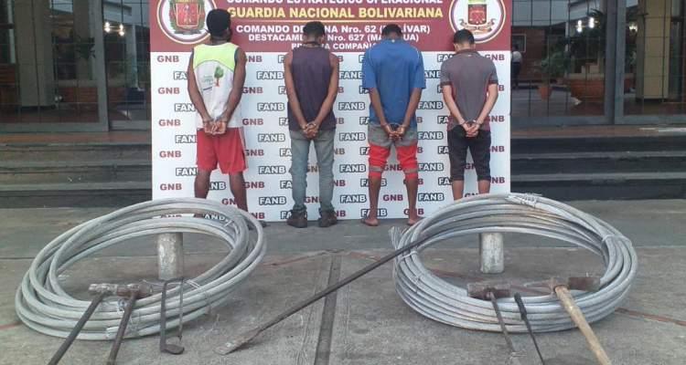 GNB capturó a 8 ciudadanos por tráfico de material estratégico
