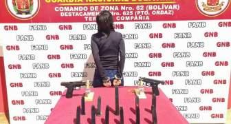 GNB capturó a ciudadana con armas de fuego