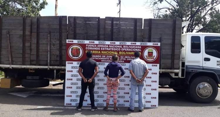 Más de 14 toneladas de material ferroso retenidas por la GNB en Bolívar