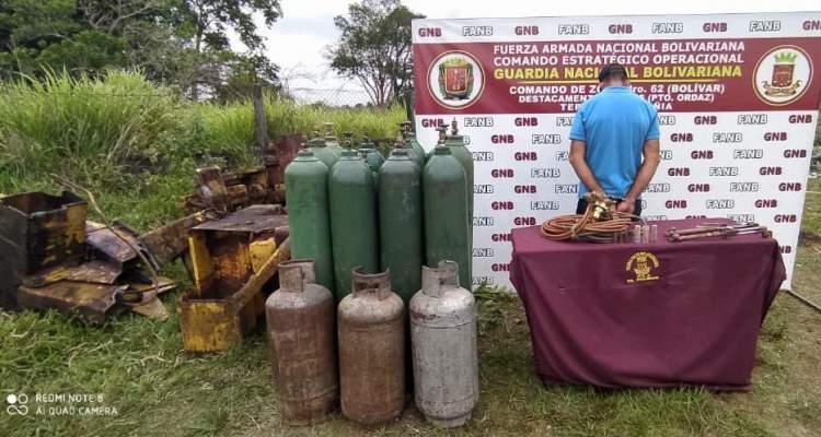 GNB detiene a ciudadano por comercio ilegal de material ferroso