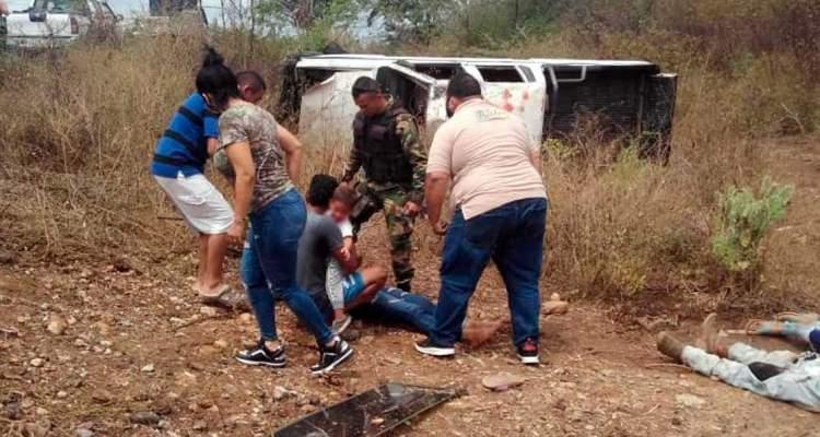 HERIDOS EN ACCIDENTE DE TRANSITO LARA ZULIA MARZO 2021