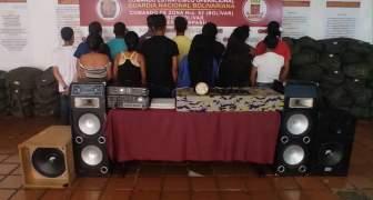 GNB detiene a 14 personas en San Félix por fiesta clandestina