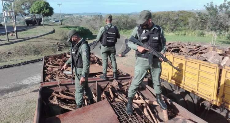 GNB retiene 40 toneladas de material ferroso en el estado Bolívar