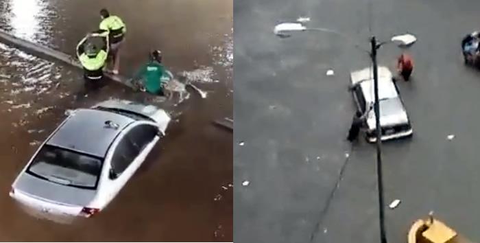 Intensas lluvias dejan a inundadas calles de Caracas, VIDEOS