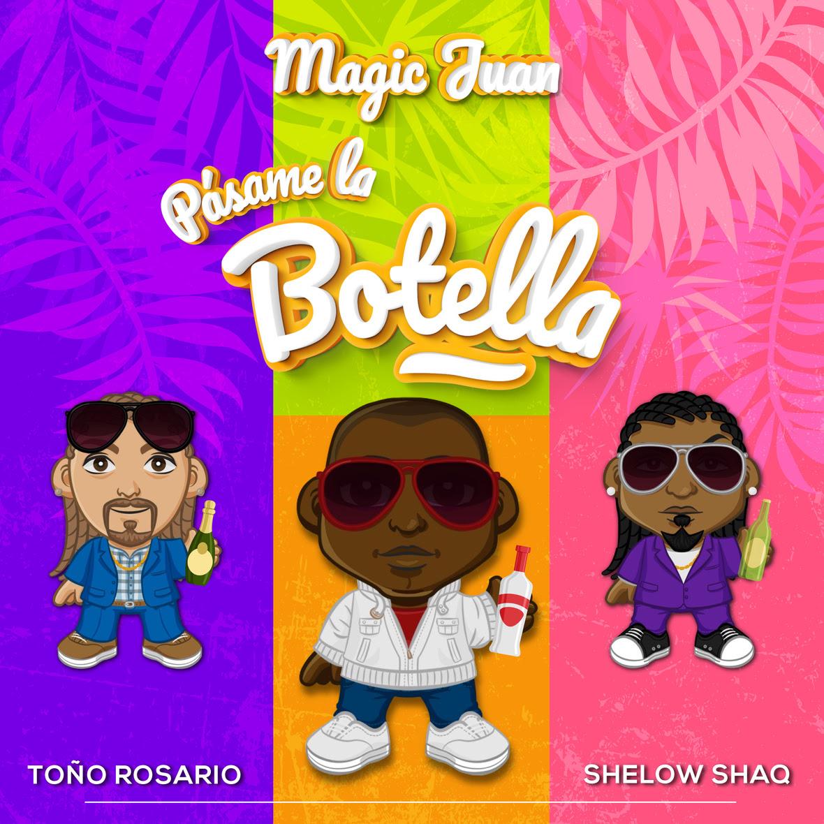 """Magic Juan recibe a Toño Rosario y Shelow Shaq en el tema """"Pásame La Botella"""""""